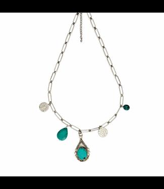 Myra Bag Turquoise Stone Necklace