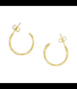 Myra Bag Elegant Golden Earrings