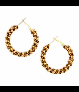 Myra Bag Golden Knotted Earrings
