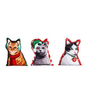 Evergreen Enterprises Holiday Cat Mini Pillows
