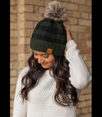 Panache Accessories Panache Fashion Knit Hat w/pom pom