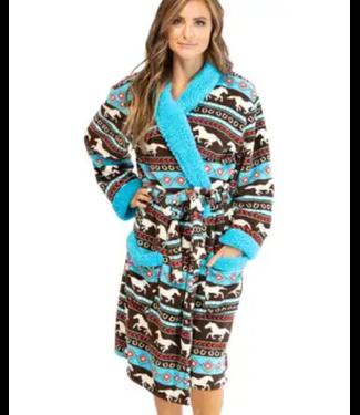 Lazy One Women's Fleece Bathrobe