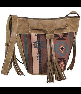 Justin Justin Bucket Bag Aztec Jacquard