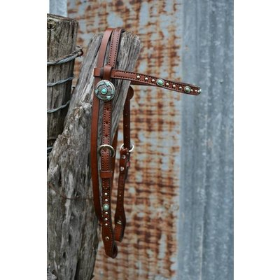 Alamo Turquoise Spots Headstall