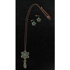 Flower Patina XL Chain Jewelry Set