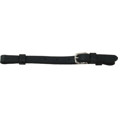 "Schutz 1/2"" Black Leather Curb Strap"