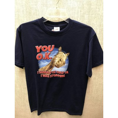"Diamond Royal Tack Cotton T-Shirt ""You O.K.?  I should've told ya I was stopping"""