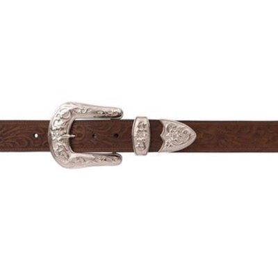 3D Women's Belt Brown Tooled 122