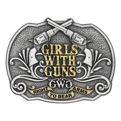 Montana Silversmith Attitudes Buckle Girls with Guns