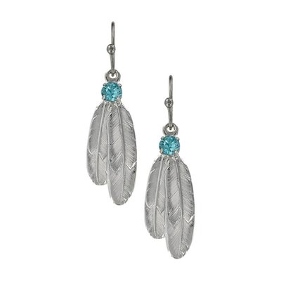 Montana Silversmith Double Feather Drop Earring