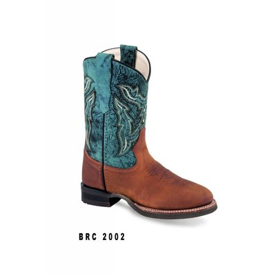 Old West Kid's Round Toe Boot BRC2002