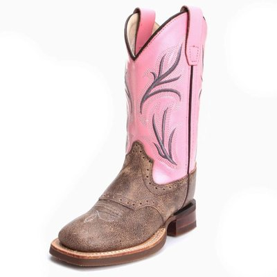 Old West Kid's Square Toe Boot BSC1844