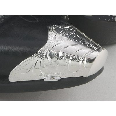 Engraved Boot Tip XL Snip Toe