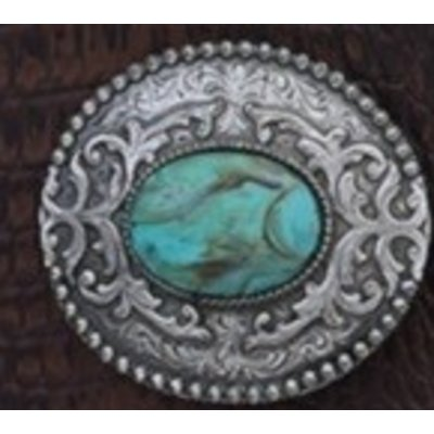 Oval Filigree Turquoise Buckle