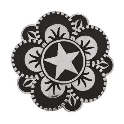 Weaver Floral Star Concho w/Post 1 1/2""