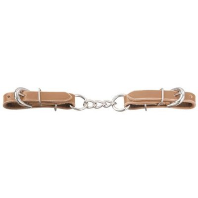Leather Curb Strap 3 Link