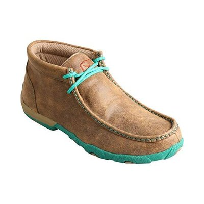 Twisted X Women's Driving Moccasins Bomber/Turquoise