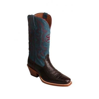 Twisted X Women's Hooey Cowboy Boot Coffee/Blue