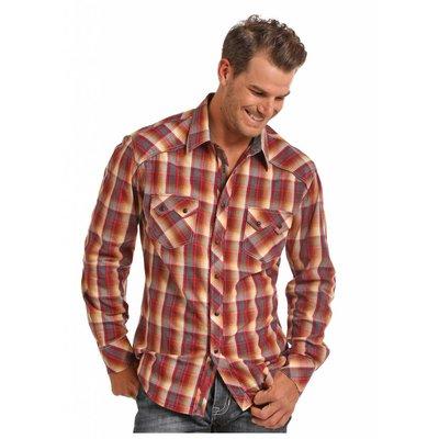 Panhandle Slim Sunset Plaid Western Shirt B2S6035