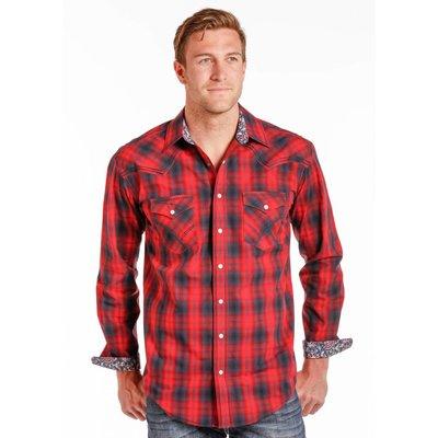 Panhandle Slim Red Plaid Western Shirt R0F4231