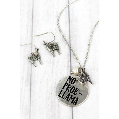 No Prob-llama Jewelry Set