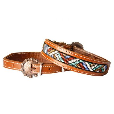 Showman Beaded Dog Collar