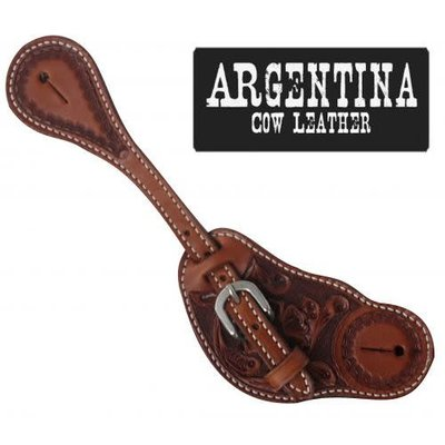Showman Mens Tooled Spur Strap