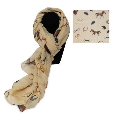 Oversize Soft Voile Horse Scarf