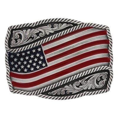 Montana Silversmith Attitudes Buckle Painted Flag