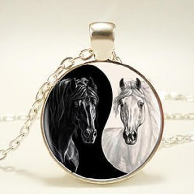 Horse Yin Yang Necklace