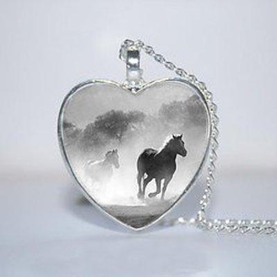 Running Horse Heart Pendant
