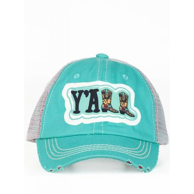 Y'all Boots Distressed Hat