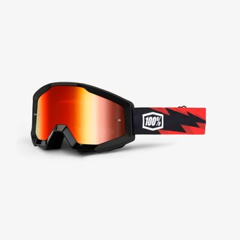 100% 100% STRATA Goggles Slash - Mirror Red Lens