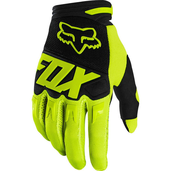 FOX FOX Youth Dirtpaw Race Gloves Flo Yellow