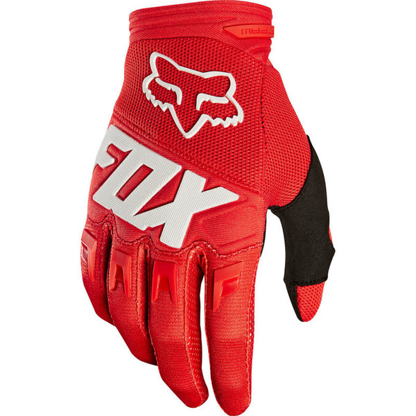 FOX FOX Youth Dirtpaw Race Gloves Red