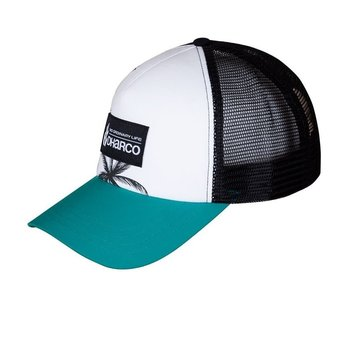 DHaRCO DHaRCO Curved Peak Trucker Hat Aqua Palm