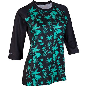 DHaRCO DHaRCO Ladies 3/4 Sleeve Jersey Aqua Party