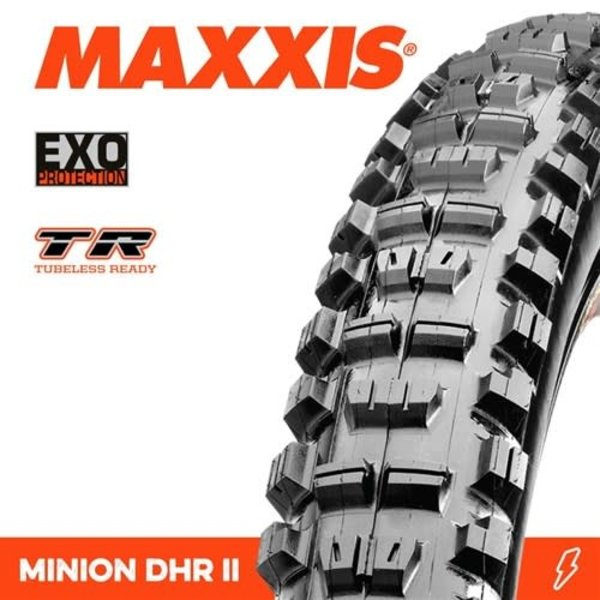 Maxxis Maxxis Tyre Minion DHR II EXO/TR Black 27.5 x 2.30
