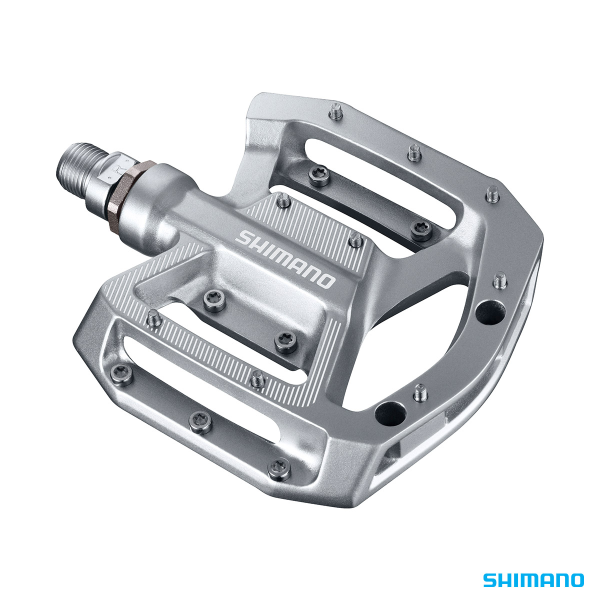 Shimano SHIMANO PEDALS PD-GR500 FLAT PLATFORM TRAIL/ALL MOUNTAIN SILVER
