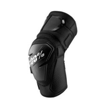 100% 100% FORTIS Knee Guards Black