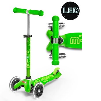Micro Mini Micro Deluxe LED Scooter Green