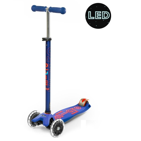 Micro Maxi Micro Deluxe LED Scooter Blue