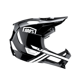 100% 100% TRAJECTA Helmet Black/White