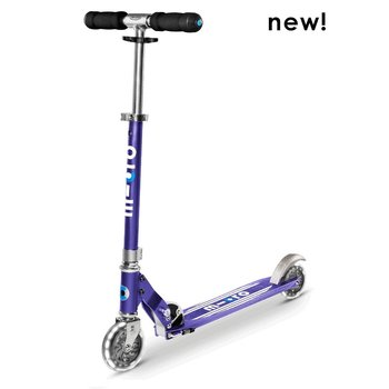 Micro Micro Sprite LED Scooter Blue Stripe