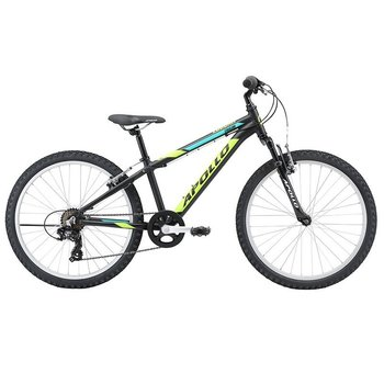 "Apollo Apollo Cougar 24"" (2021) Matte Black/Lime/Turquoise"