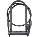 """Bontrager Bontrager Elite Keyed U-Lock with 4' Cable Black 9mm x 23cm (9.1"""") x 10.5cm (4.25"""")"""