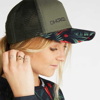 DHaRCO DHaRCO Curved Peak Trucker Hat Tropical Camo