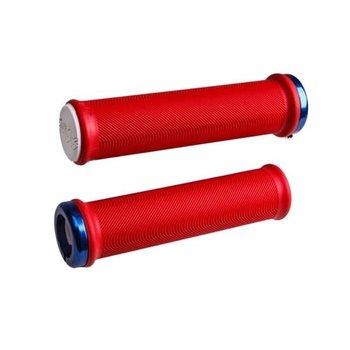 ODI MTB Grips Sensus Lite Lock-On Bright Red/White/Blue