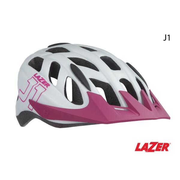 Lazer LAZER HELMET - J1 - MATTE WHITE PINK YOUTH UNISIZE (52-56cm)