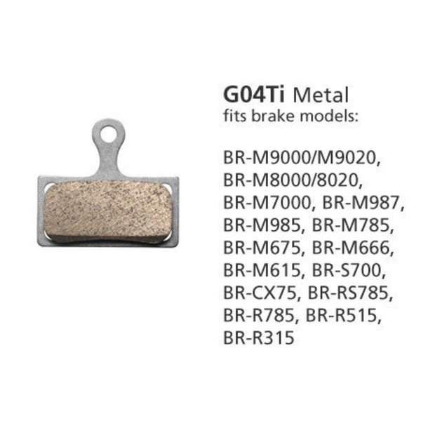 Shimano BR-M9000 METAL PADS & SPRING G04Ti